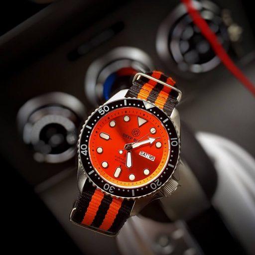 Deep Blue NATO Diver 300 Orange
