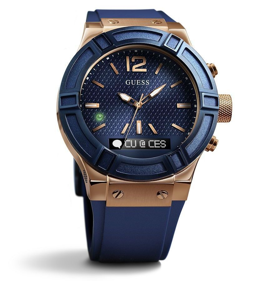 Guess Connect Smartwatch Styled By Guess And Powered By Martian Technology Watch Releases