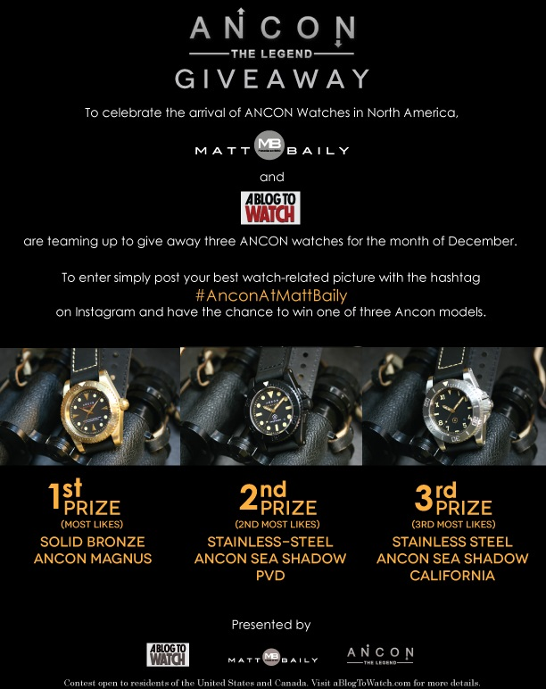VOTE For Your Favorite Watch Pictures For Ancon Giveaway Giveaways