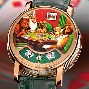 Welcome To A Pinnacle Of Taste And Technology. May I Please Present You With: The Dogs Playing Poker Gold Watch Watch Releases