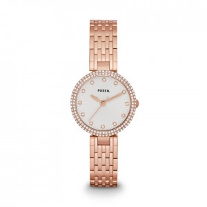 Olive Three-Hand Stainless Steel Watch - Rose