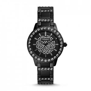 Jesse Three-Hand Stainless Steel Watch - Black
