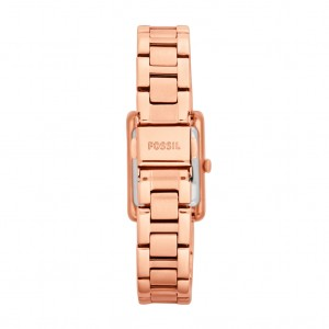 Florence Three-Hand Stainless Steel Watch - Rose: