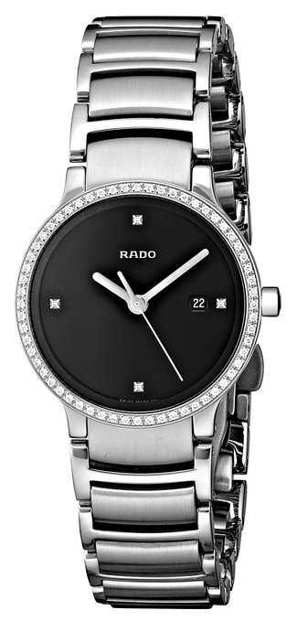 Rado Women's Stainless Steel Diamond Bezel Watch