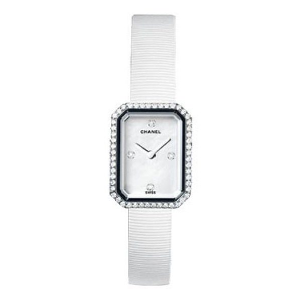 Chanel white stainless steel watch: Premiere, H2433