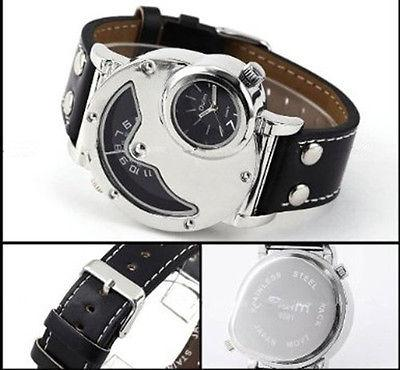 New Dual Times Rare Russian Mens Watch