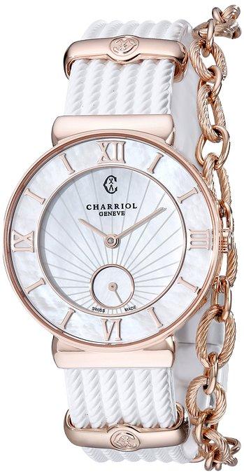 Charriol Round Watch With A Chain Bracelet