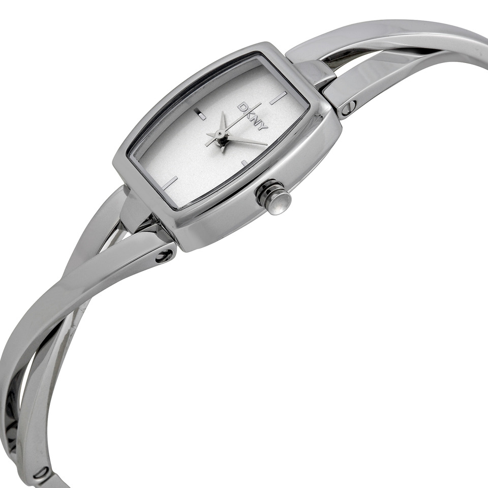 DKNY vrouwen crosswalk zilver quartz horloge