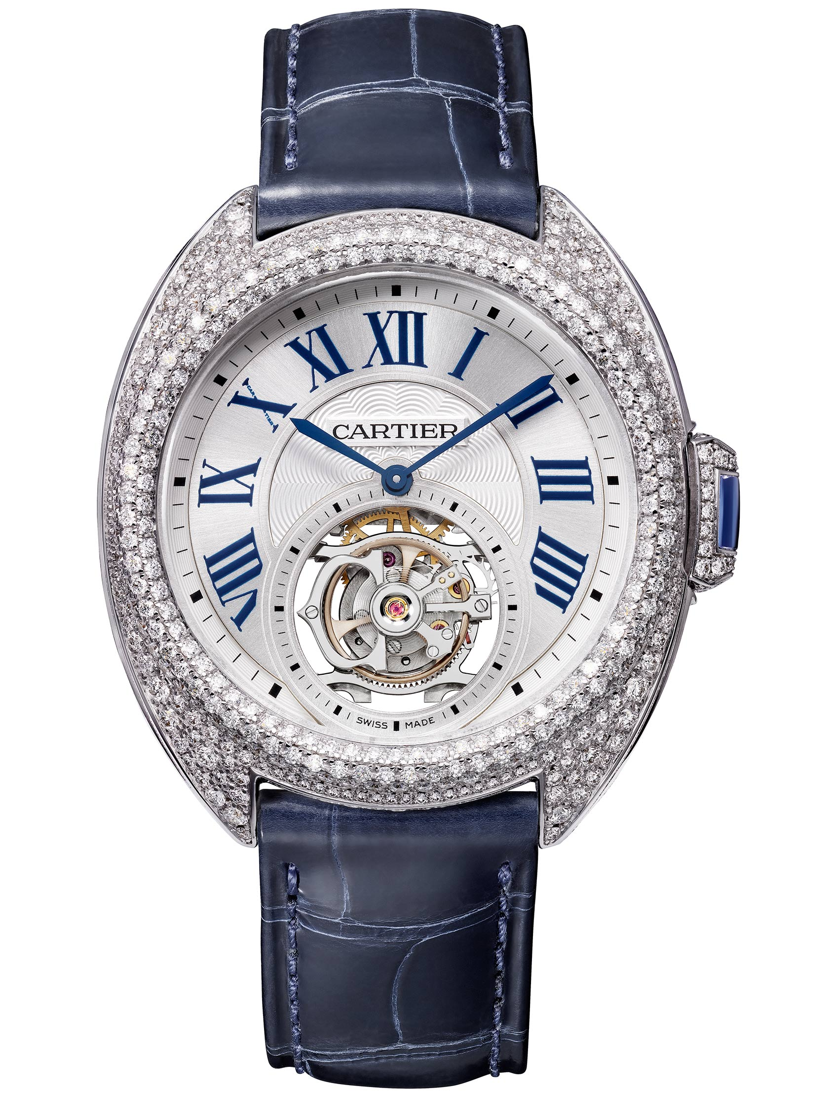 Striking Diamonds Cartier Watch-Clé de Cartier