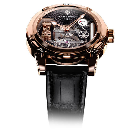 Louis Moinet 18k Rose Gold Automatic Watch
