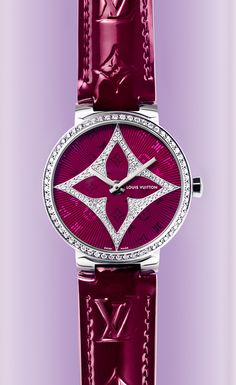 Louis Vuitton Intense Magenta Color Women's Watch