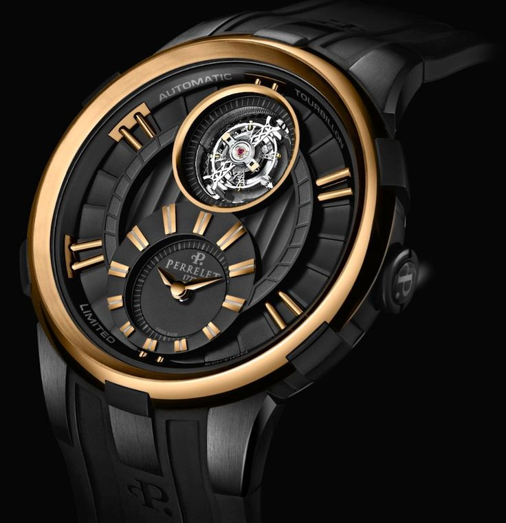 Perrelet Tourbillon Movement With Black And Gold