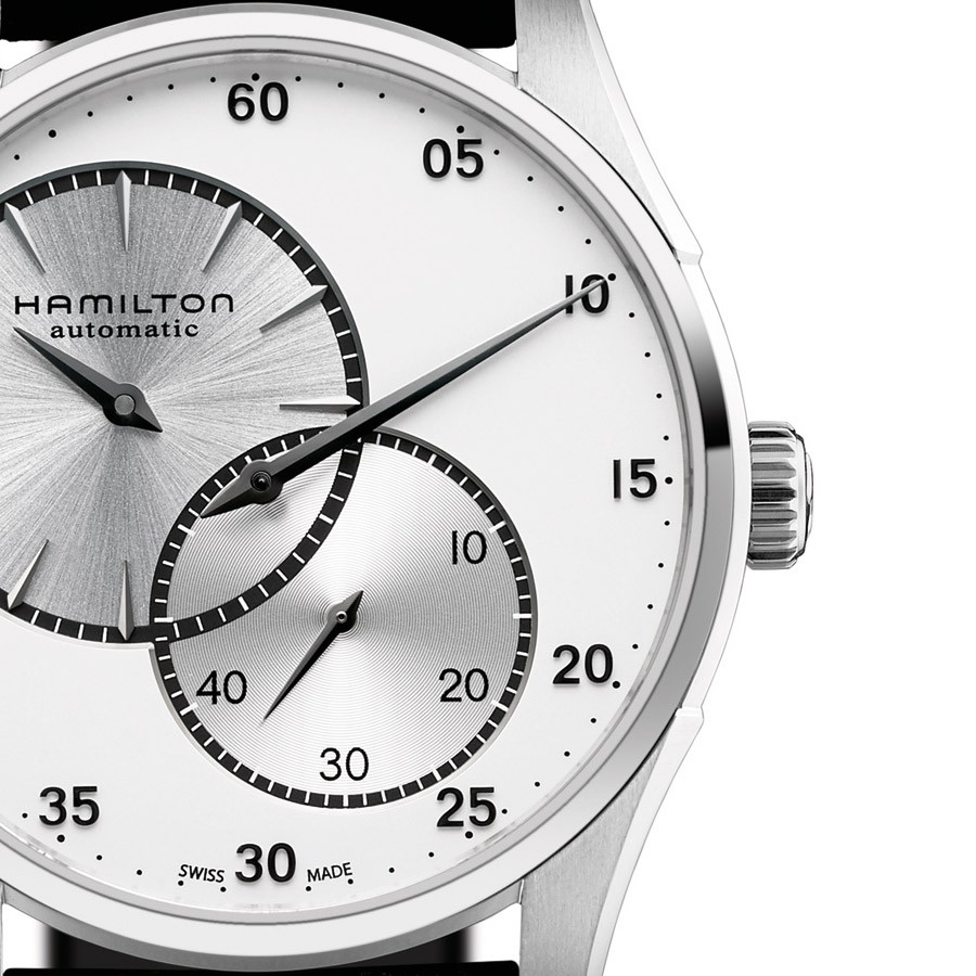 Front of Hamilton Jazzmaster Regulator watch