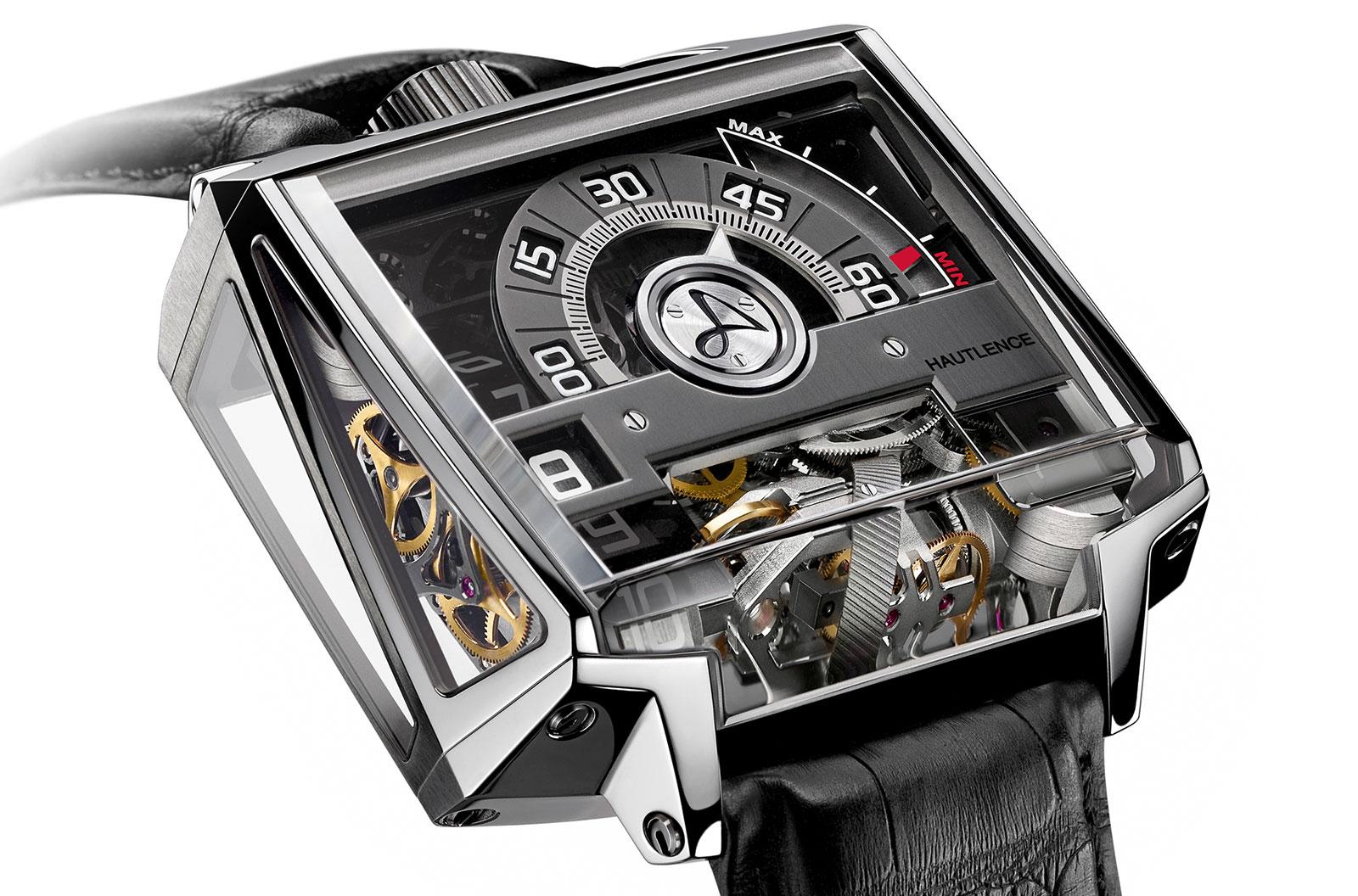 Side of Hautlence Vortex titanium limited edition watch 02