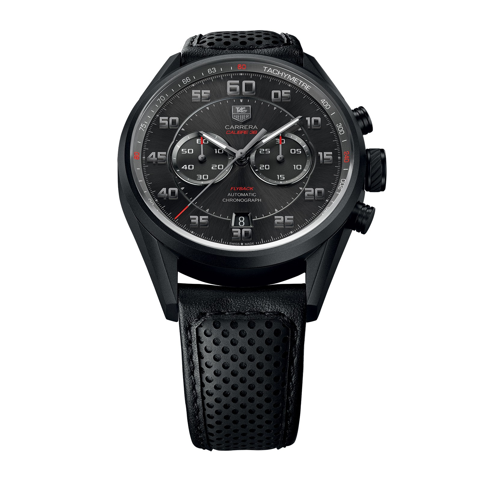 Front of TAG Heuer Carrera Calibre 36 Flyback Racing