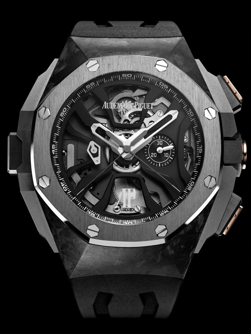 Front of Audemars Piguet Royal Oak Concept Laptimer titanium watch