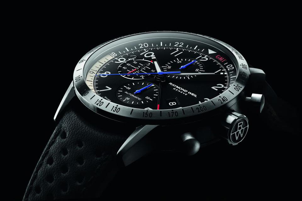 Side of Raymond Weil Freelancer Piper Pilot watch