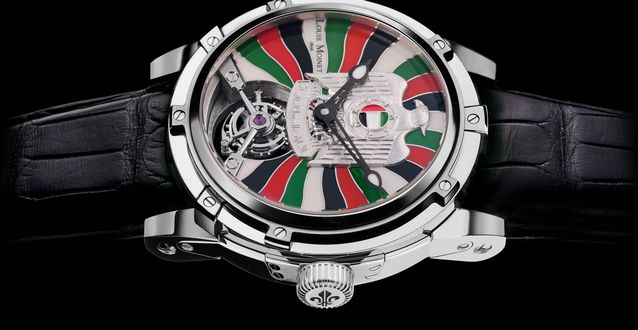 Side of Louis Moinet UAE Falcon 02