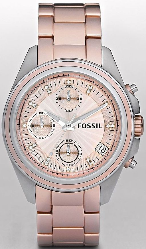 Front of Fossil Decker Boyfriend Aluminum watch