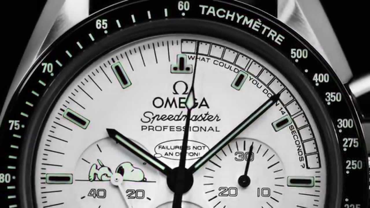 Omega Speedmaster Apollo 13 Silver Snoopy Award dial