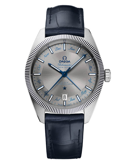 Front of Omega GlobeMaster Annual Calendar watch