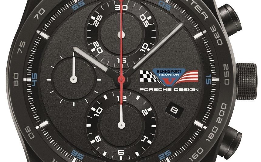 Porsche Design Chronotimer Series 1 Rennsport Reunion V watch dial