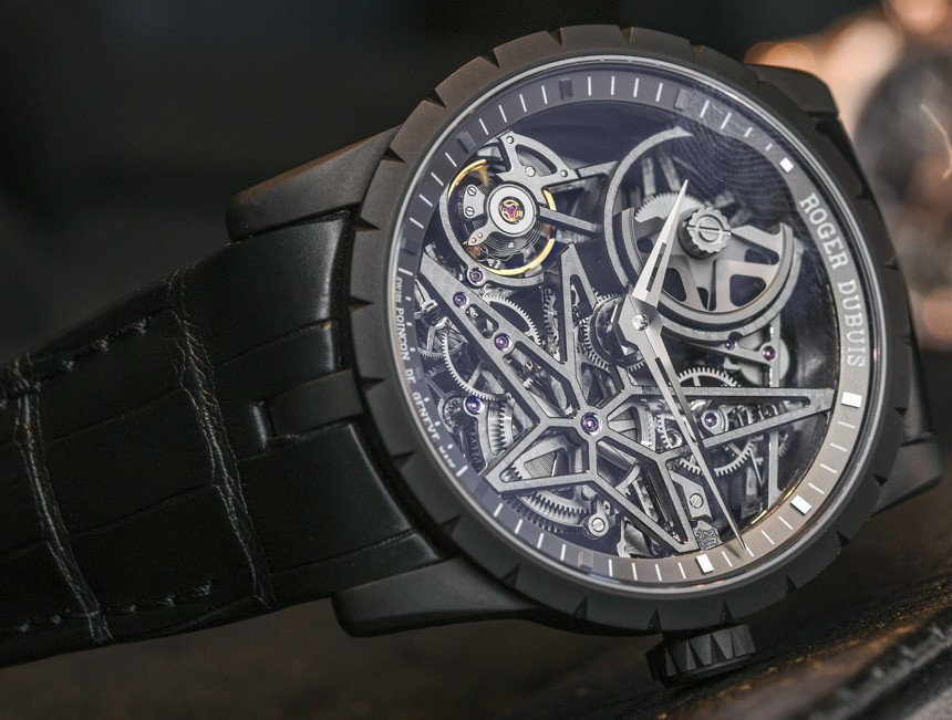 Side of Roger Dubuis Excalibur 42 Automatic Skeleton watch 02