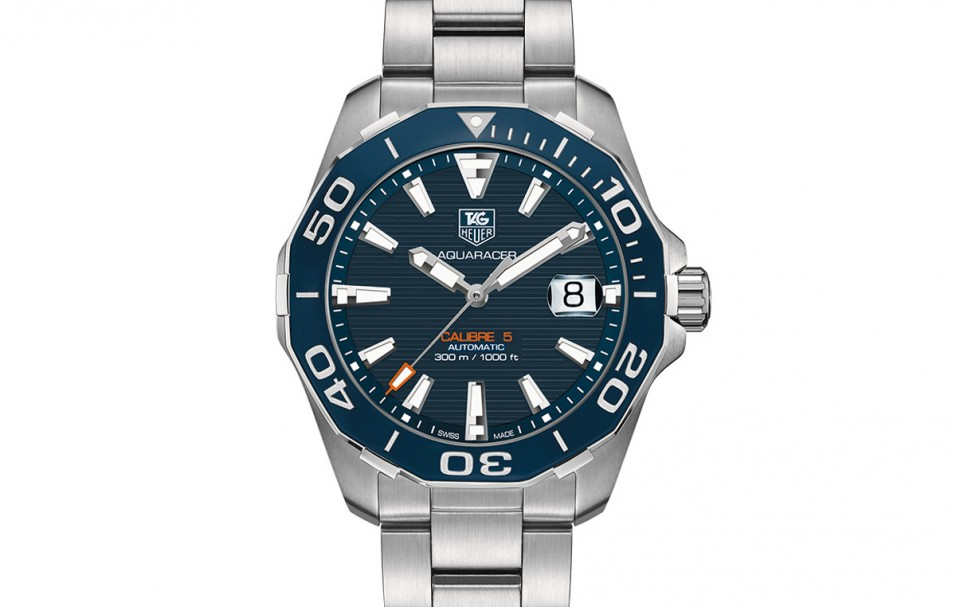 Front of TAG Heuer Aquaracer 300M Calibre 5 Ceramic 43 mm