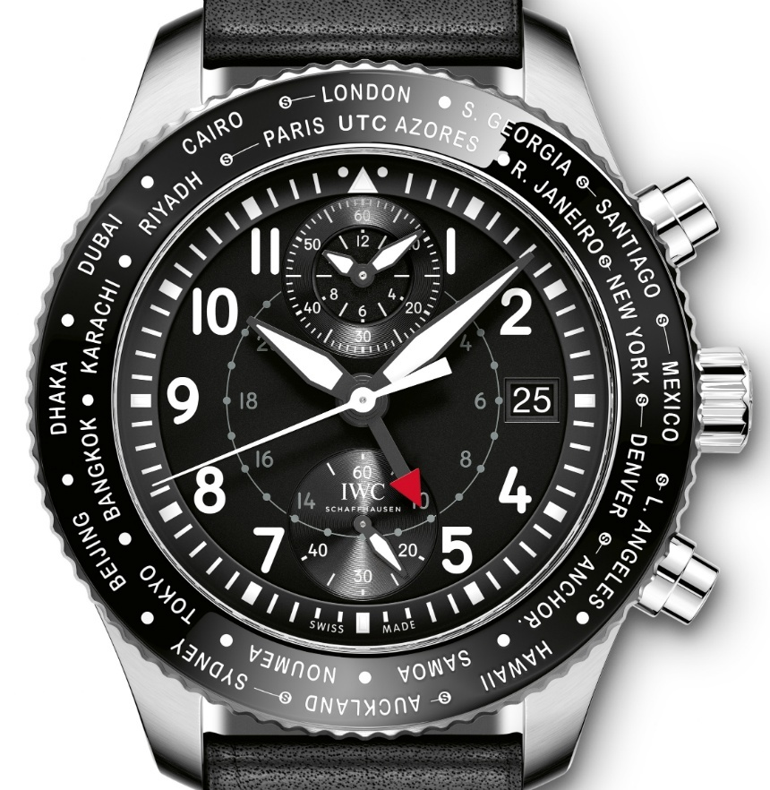 Front of IWC Pilot's Watch Timezoner Chronograph