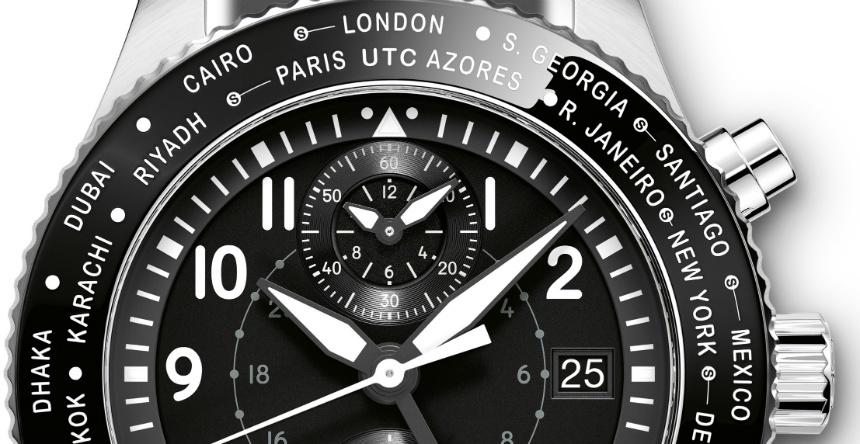 IWC Pilot's Watch Timezoner Chronograph dial