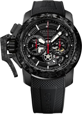 Graham Chronofighter Superlight Carbon Skeleton