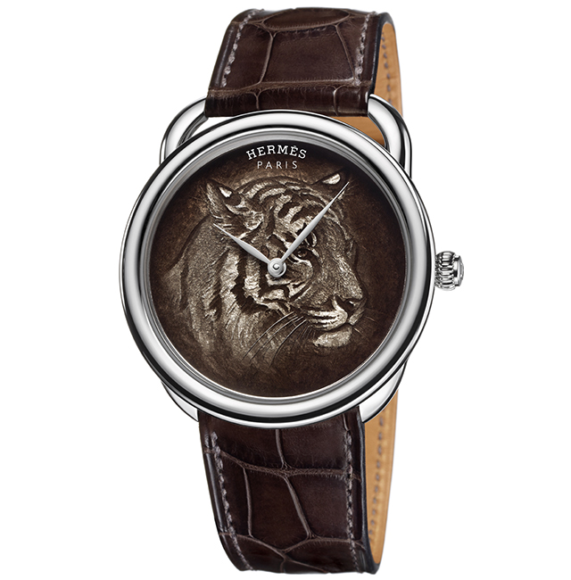 Front of Hermes Arceau Tigre special edition