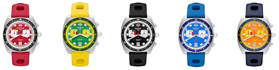 Zodiac Sea Dragon Limited Edition Watch In Bright Retro Colors Watch Releases