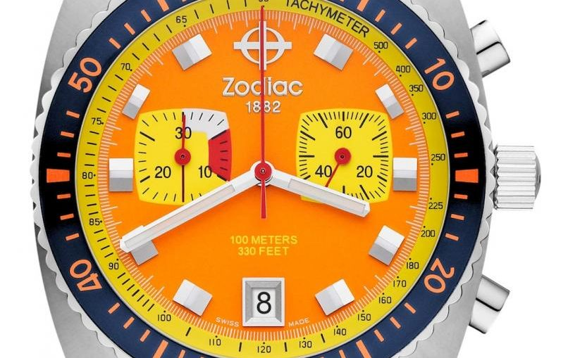 Zodiac Sea Dragon Limited Edition Watch In Bright Retro Colors Watch Releases