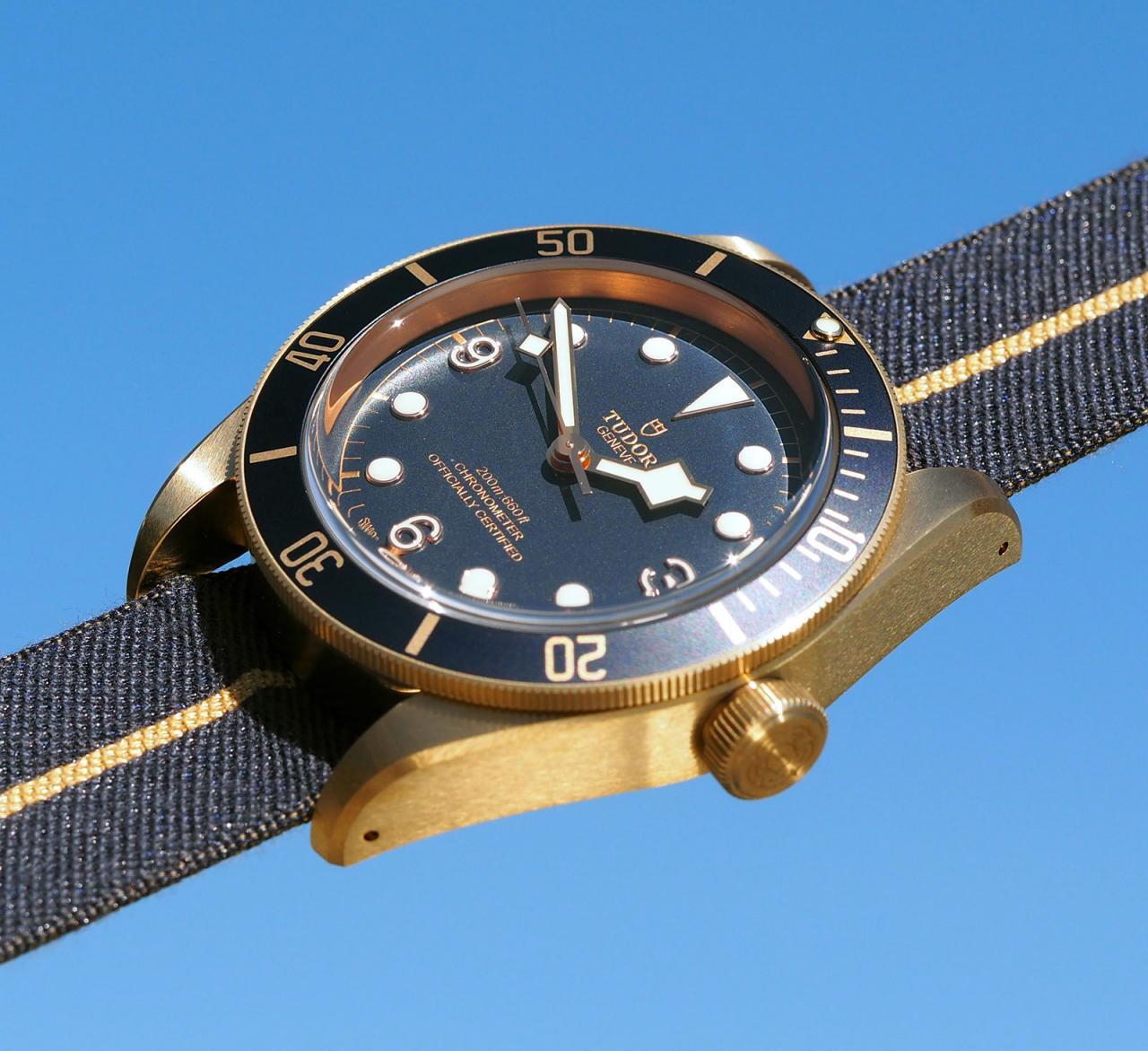Tudor Black Bay Bronze Blue Bucherer 7