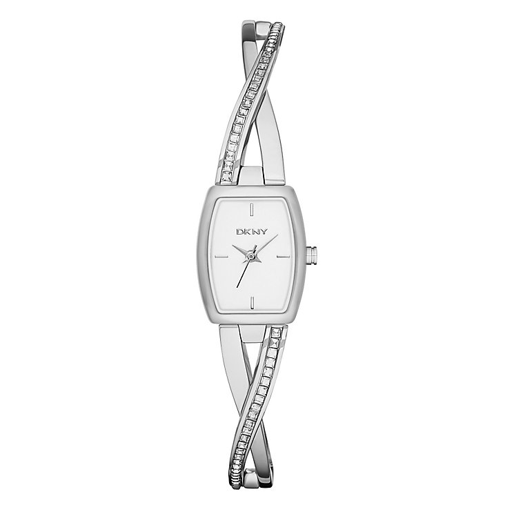 DKNY women crosswalk silver quartz watch