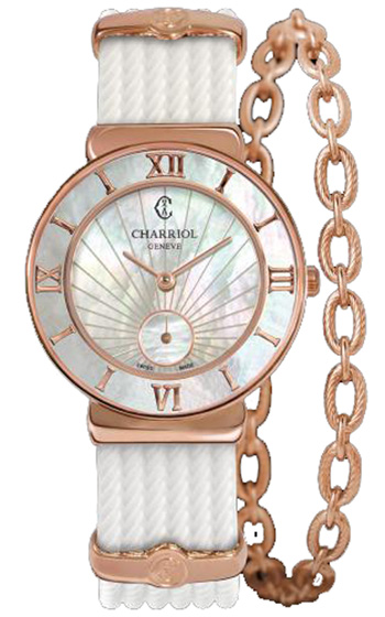 Charriol Round Watch With A Chain Bracelet