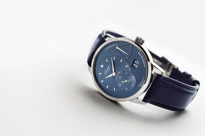 Modest Luxury Dark Blue Glashutte Original PanoReserve Watch