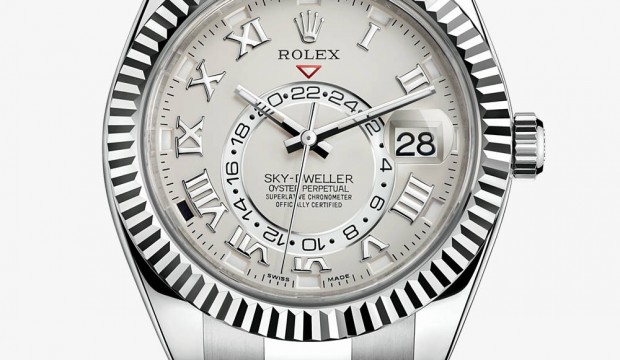Rolex Sky-Dweller stainless steel watch dial