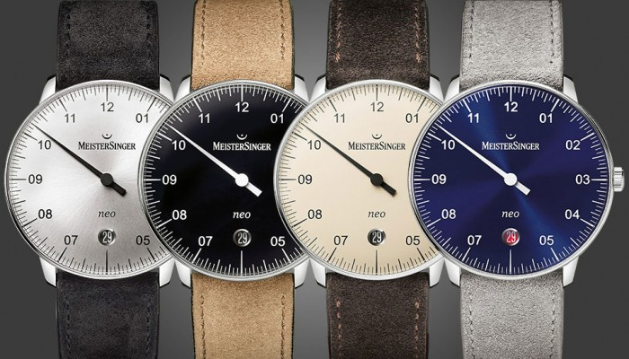 Front of Meistersinger Neo watches