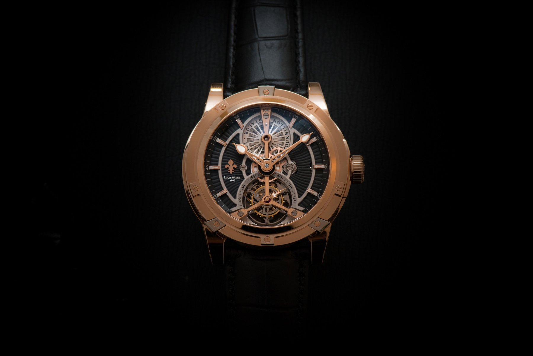 Front of Louis Moinet Vertalor Tourbillon watch