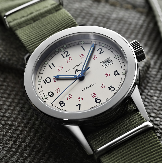 Side of Longines Heritage Military COSD 02