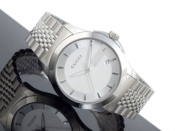 Side of Gucci G-Timeless stainless steel watch for men 02