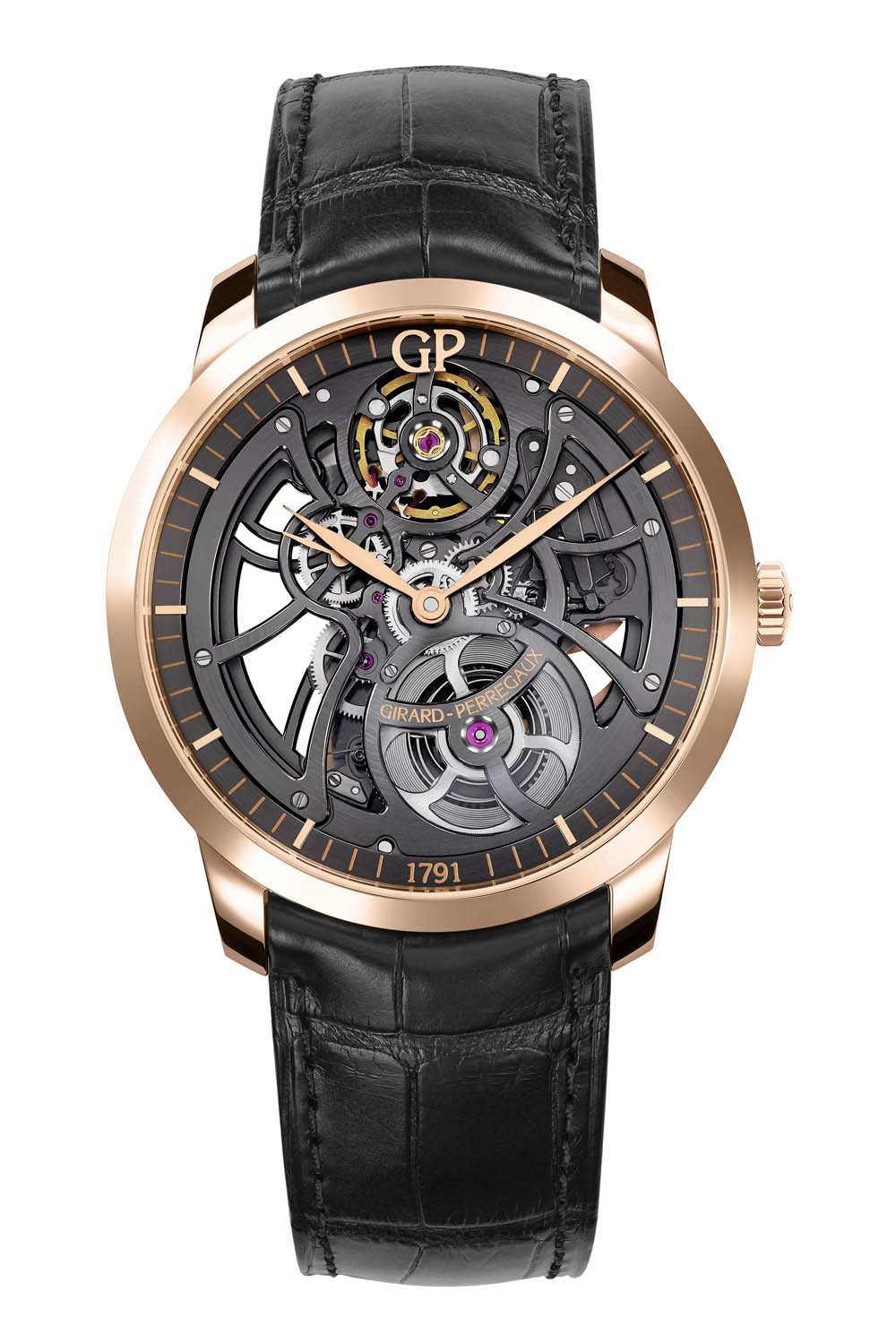 Front of Girard-Perregaux 1966 Skeleton anniversary watch