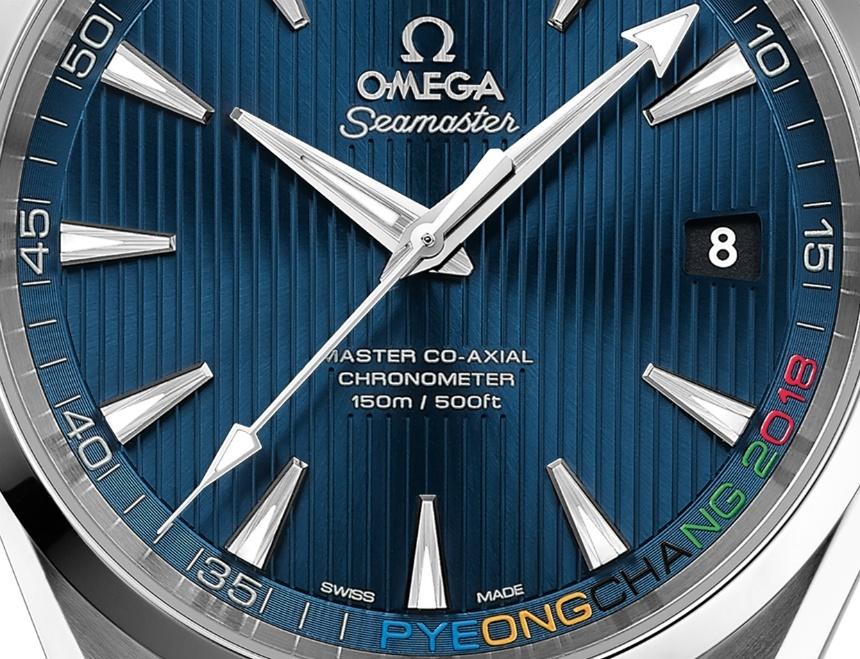 "Omega Seamaster Aqua Terra ""Pyeongchang 2018"" watch dial"