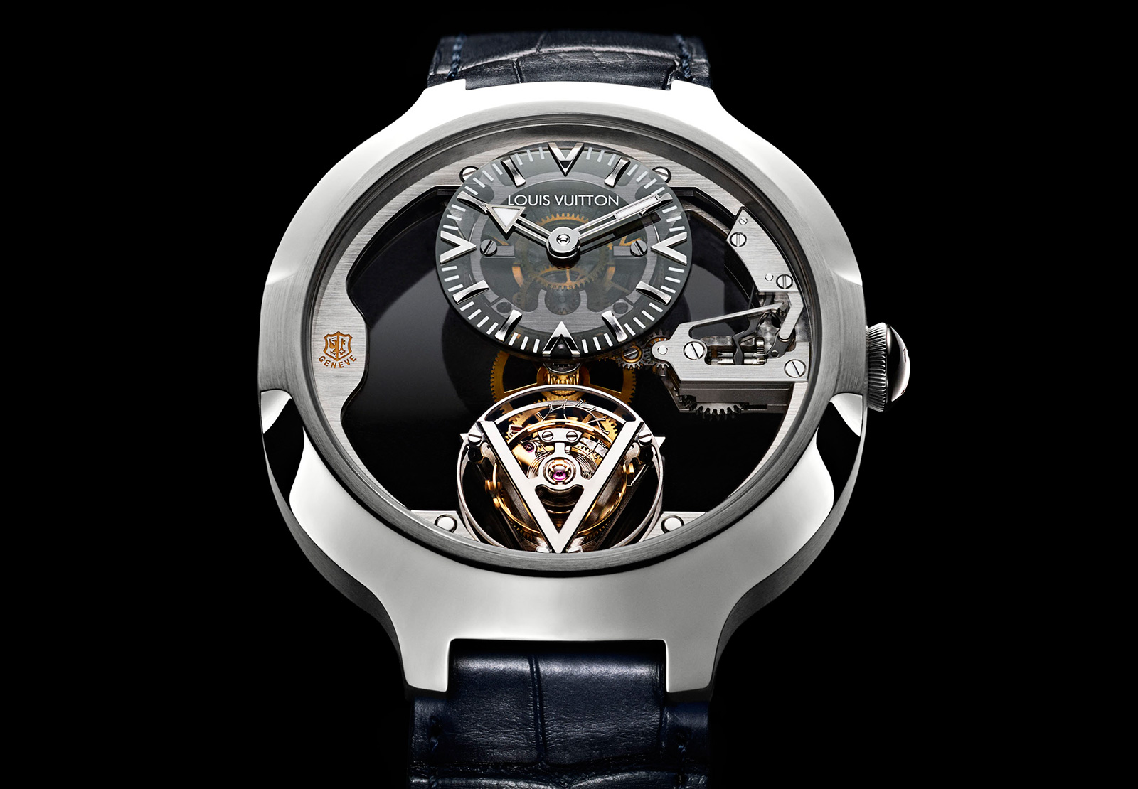 Front of Louis Vuitton Flying Tourbillon Geneva Seal Watch