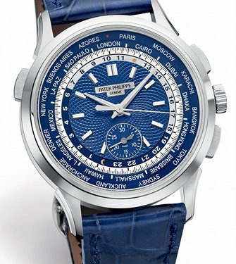 Side of Patek Philippe World Time Chronograph Ref. 5930G 02