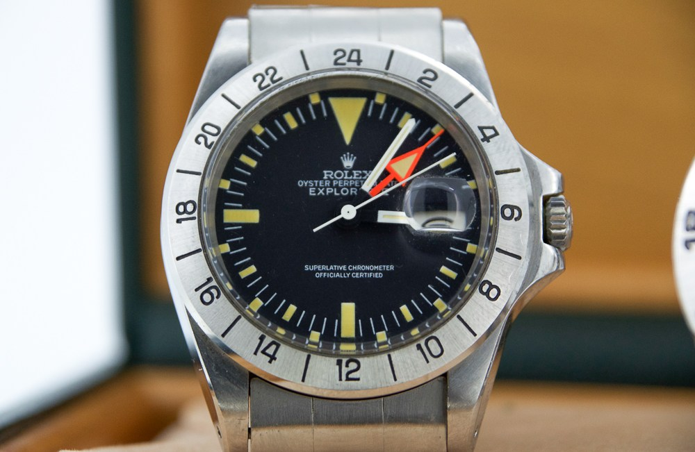 Front of Rolex Explorer II Ref 1655